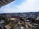天守から見る城址と掛川の街並み…