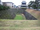 空堀と鬼門櫓