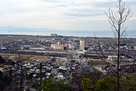 学校山展望所から米原駅を望む…
