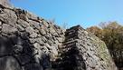 八代城 九間櫓跡 石垣と石段…