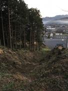 雷電神社東側の竪堀(上から)