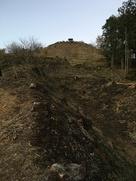 雷電神社東側の竪堀(下から)
