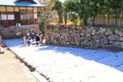 樅の丸東面と道具櫓跡の石垣…