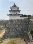 東側から見た巽櫓(石垣入り)全身…