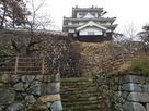川側から見た櫓と石垣…