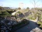 天守郭下から見た、富士見櫓跡付近の石垣…