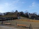 三の丸跡の新公園から見た模擬天守閣…