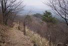 北側の曲輪への登山道…