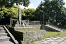公園の石碑付近から…