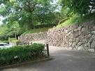 護国神社になている部分の石垣…