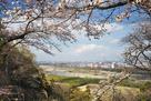 中の丸から多摩川と秋川の合流地点を望む…