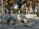 長姫神社の手水は温泉だった。…