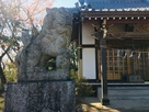 本丸四津山神社の子連れ狛犬…