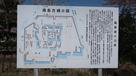 案内板(福島古城の図)…