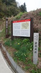 平沢登山口案内板