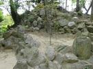 尚古荘庭園に残る石垣…