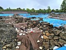 発掘中の石垣