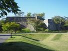 石垣・空堀、小峰城歴史館付近から…