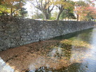 本丸北面外堀の石垣…