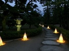 披雲閣庭園ライトアップ…
