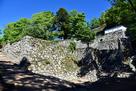 大手門と路地門跡の石垣…