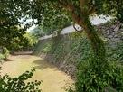 北側石垣と空堀…