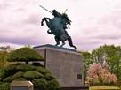 最上義光公騎馬像(二ノ丸)…