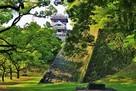 小天守と櫨方三重櫓台石垣(北側)…