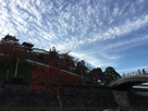 福知山城と昇龍橋…