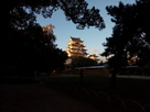 夕陽に染まる福山の城…