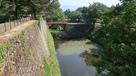 本丸高石垣と廊下橋(茶壺櫓側から)…