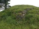 本丸上段南西隅の石垣…