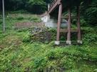曳橋の橋台の石垣…