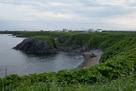 東側の岬からチャシ方向…