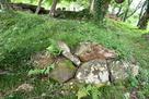 城門近くの石組み…