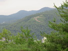 船岡山から見える左大文字…