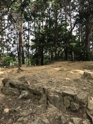 天守台と石垣