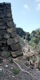 東の丸 高石垣の端…