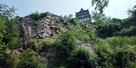 シノギ積の石垣と天守…