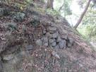 帯曲輪(三の丸)の石垣…