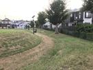 櫓跡と土塁跡