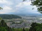 田口城展望台から…