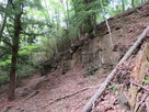 城跡直下の断崖