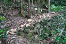北の丸・二の丸への登城道(北コース)の石…