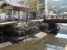 相橋に残る石垣…