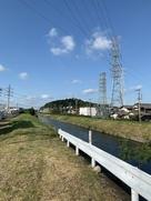 合瀨川越しの小牧山…
