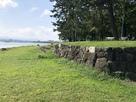 石垣と琵琶湖