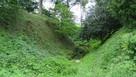 堀に守られた赤見城保育園…