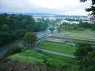 辰巳櫓跡から鯉喉櫓跡、いもり堀を見る…