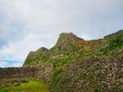 城址北側の城壁…